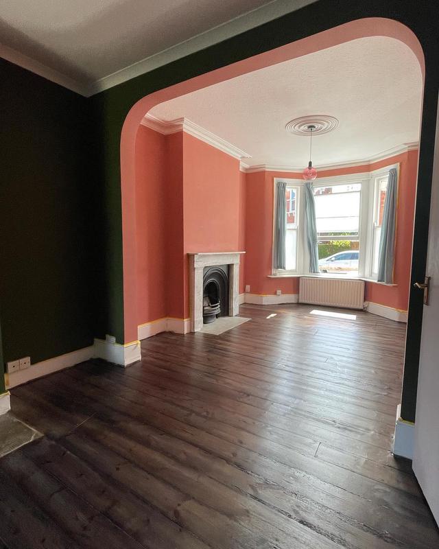 Image 1 - Pine floor restored in dark colour