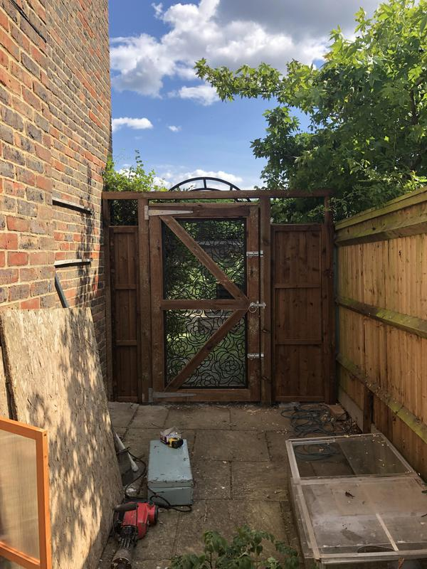 Image 39 - As customer purchased a screen panel and we built it into a gate frame on site and installed it.