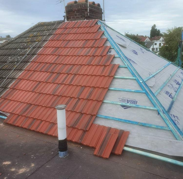 Image 16 - New roof during