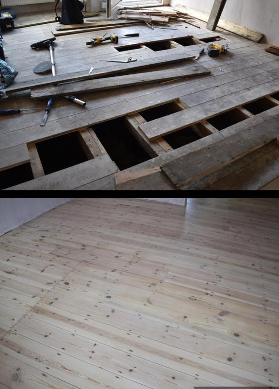 Image 21 - Original pine floor boards restored