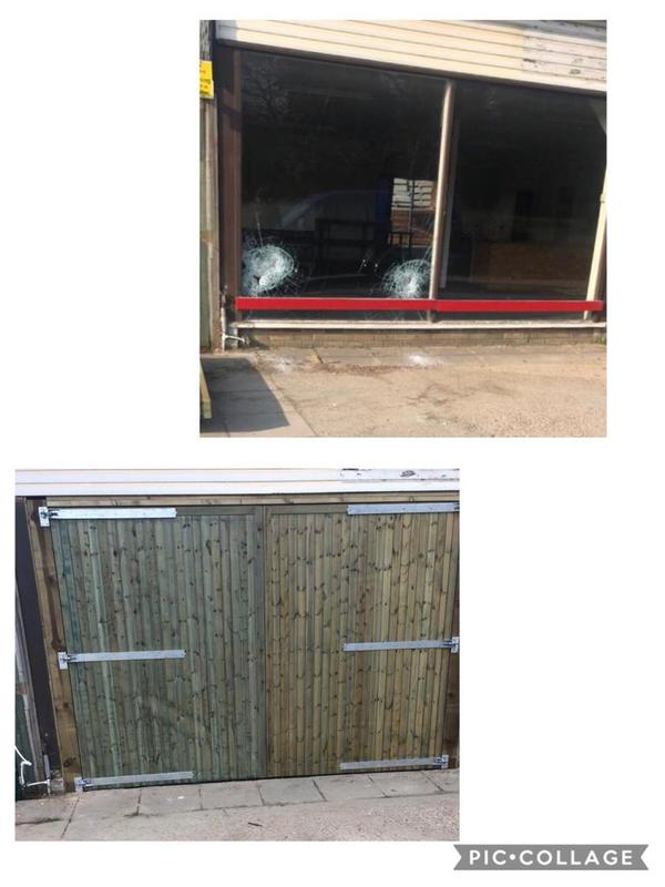 Image 17 - Double glass view opening changed to double swinging storage doors
