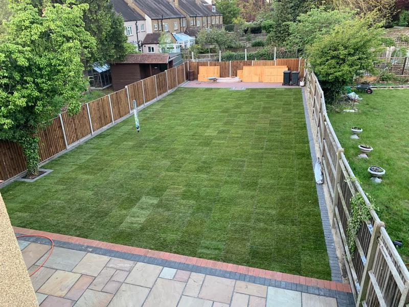 Image 12 - After we saved the day that nobody wanted to do fencing turfing slabbing and block paving patios all done within a week and a half