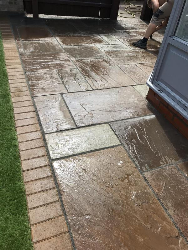 Image 37 - Indian sandstone with a Block paving photo