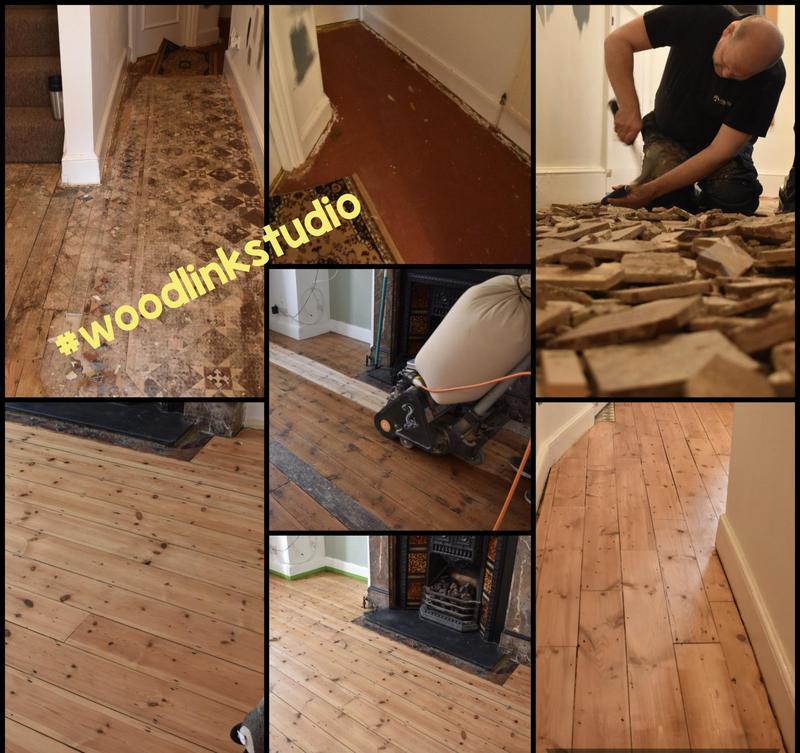 Image 14 - Original pine floor restored