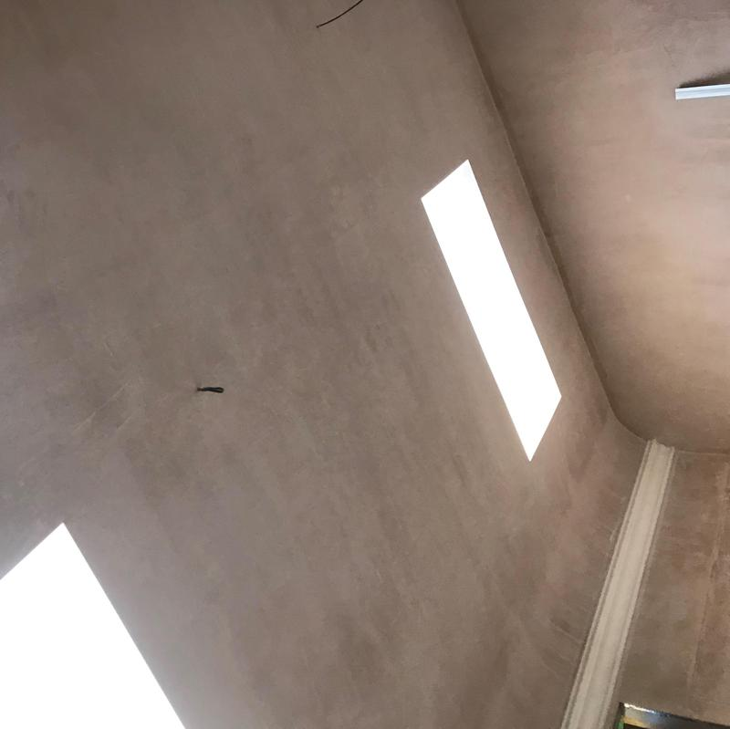 Image 28 - One part of a 100m2 coombed ceiling. A lovely finish by our amazing team of plasterers.