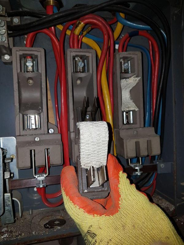 Image 5 - Asbestos Fuse Box Flash Guard Removal - AFTER