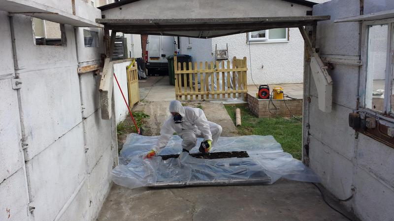 Image 43 - Asbestos Garage Roof Removal - DURING