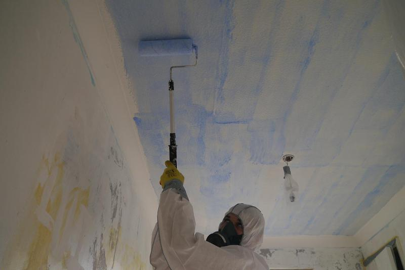 Image 24 - Asbestos Textured Coating (Artex) Removal - DURING