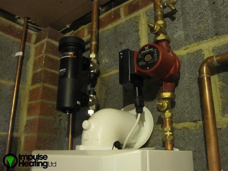 Image 5 - Adey Magnaclean central heating filter & Grundfos pump