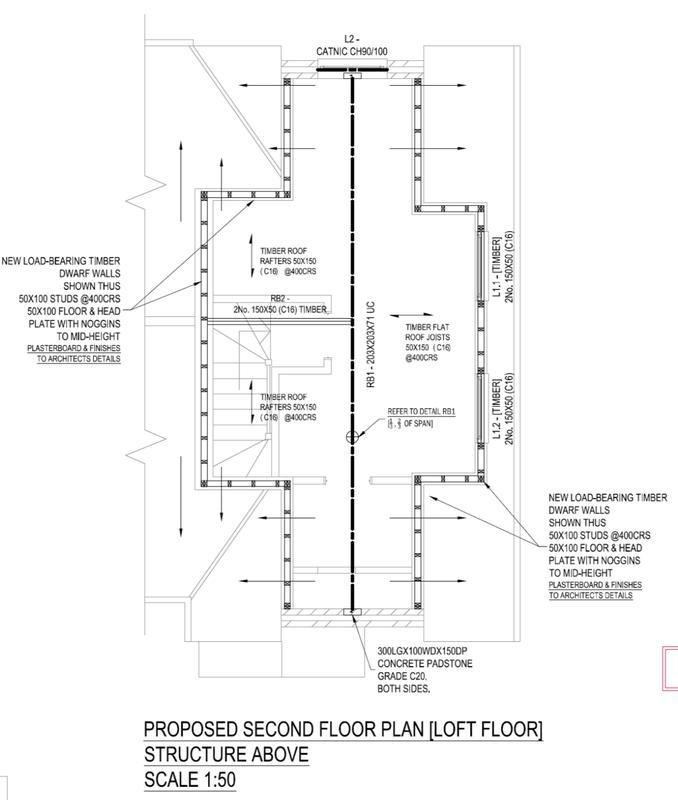 Image 2 - Loft Conversion. Roof Plan. Limewood Close.