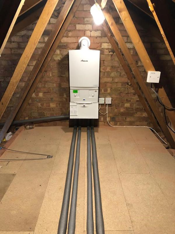 Image 21 - New Worcester Bosch 32CDi compact installed in the loft for a customer in Little Paxton