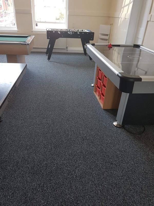 Image 24 - Large commercial carpet tile job in local education centre. Lots of shades and colours to choose from. Perfect for offices and communal areas