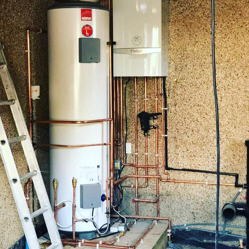 Image 46 - New boiler and unvented cylinder installation