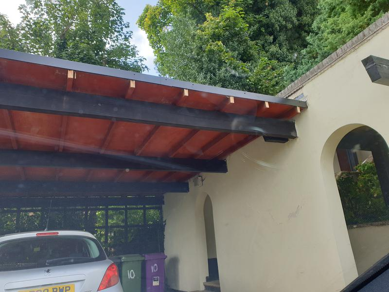 Image 57 - In these 2 images you see how the carport also was fitted with Firestone rubber