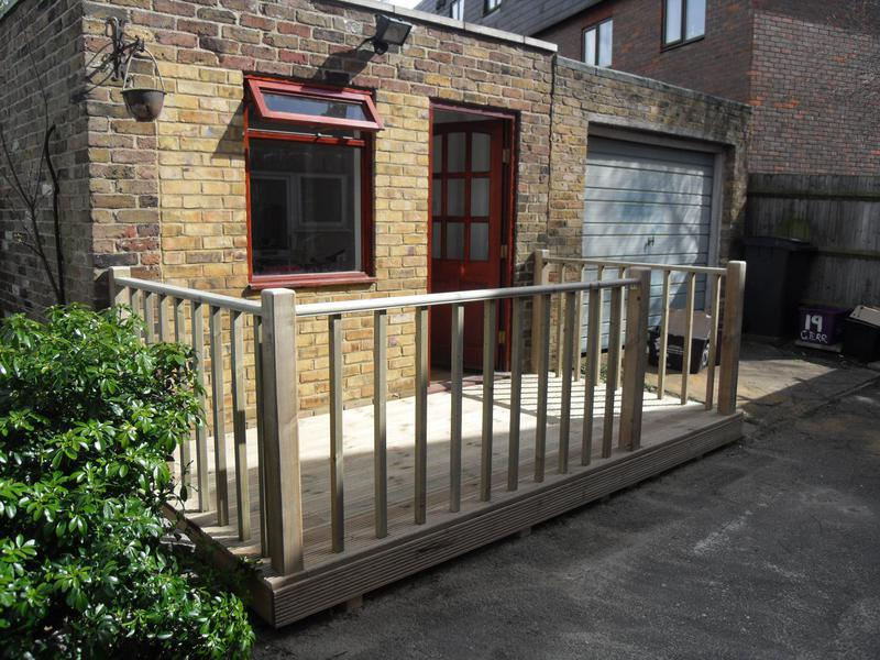 Image 50 - decking with handrail