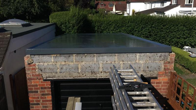 Image 17 - completion of a new GRP fibreglass flat roof system