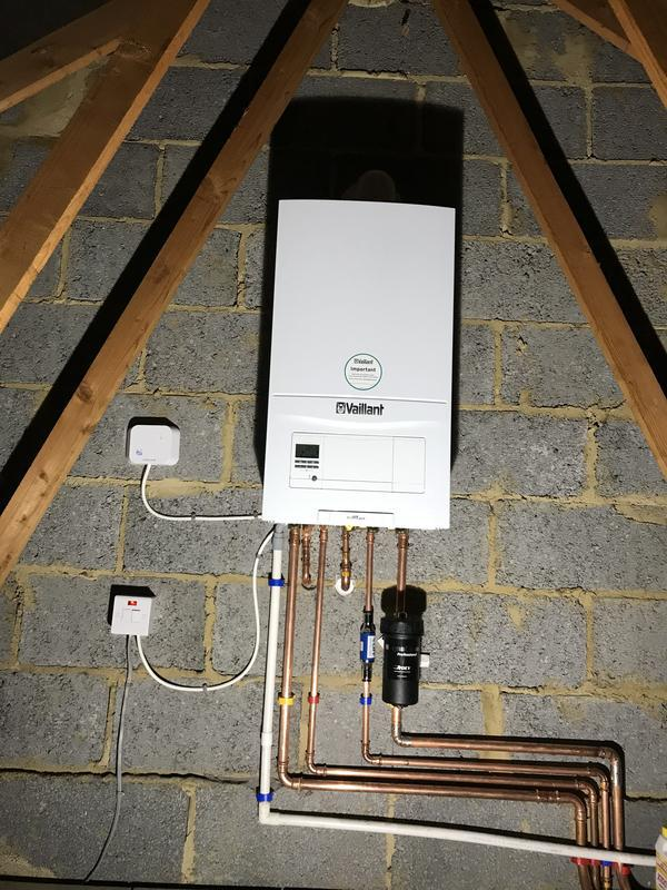 Image 2 - A delight to install this Vaillant 835 on a full system conversion moving the boiler into the loft