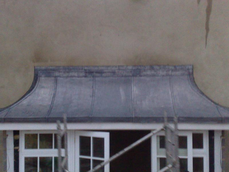 Image 4 - inverted barrel bay roof in code 7 lead in welted sections
