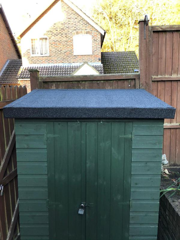 Image 13 - Shed flat roof installation finished