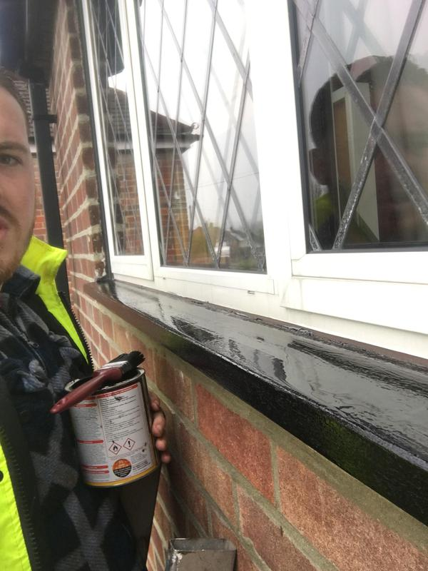 Image 21 - Window sills being re sorted