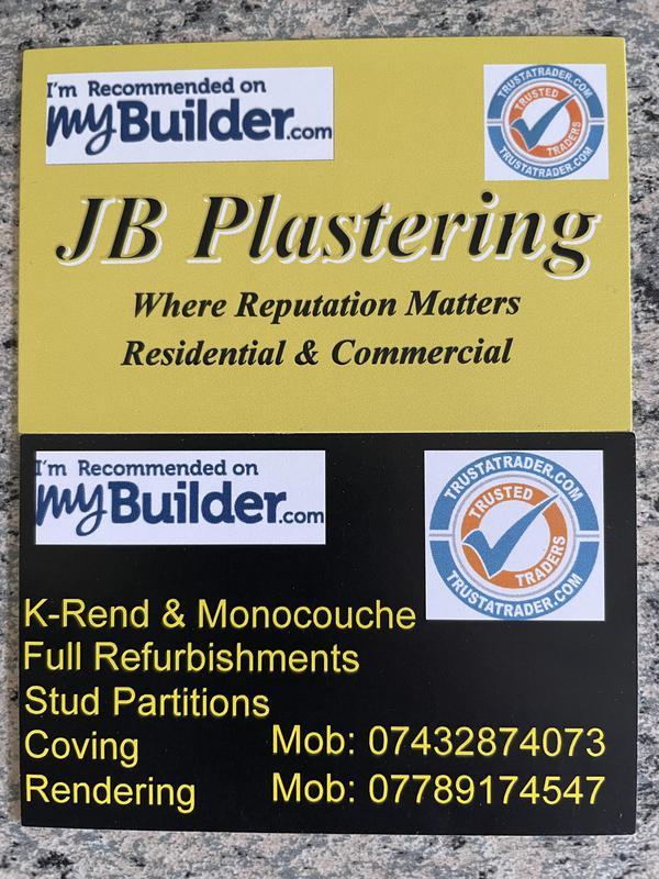 JB Plastering logo