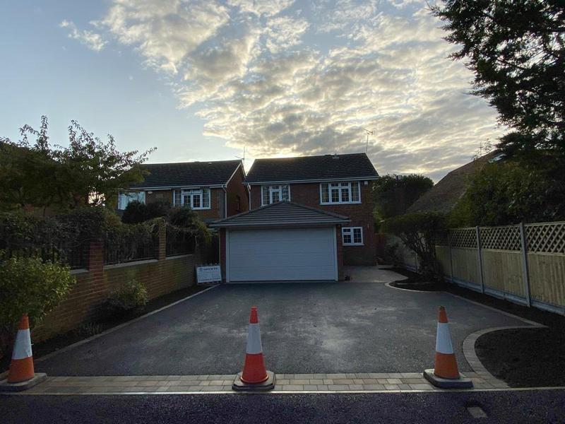 Image 2 - Chertsey Tegler free size block paving edged with tarmac and landscape fencing work