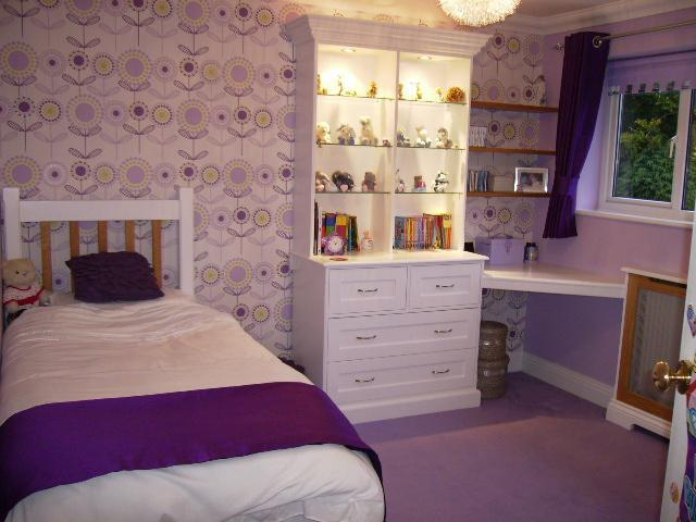 Image 48 - Child's bedroom with bespoke desk and radiator cover.