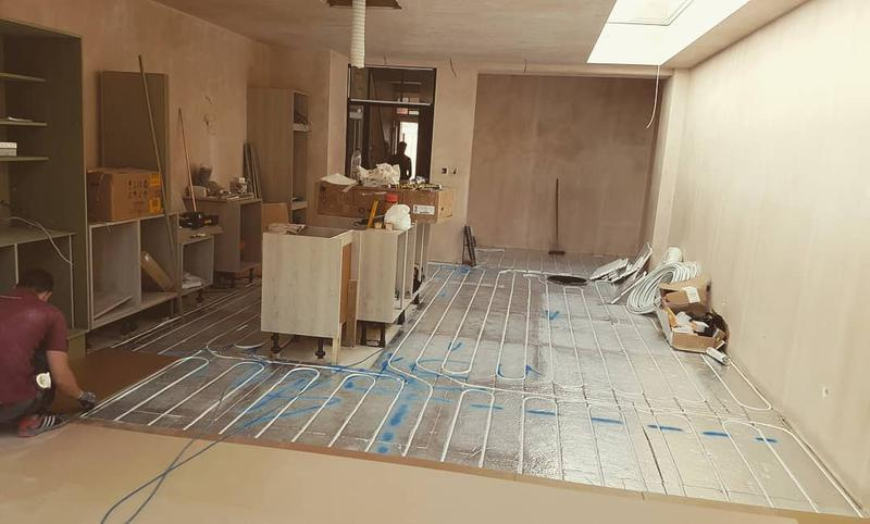 Image 30 - this is thinnest possible water underfloor heating having only 20mm with insulation, installed by Hydro Install LTD