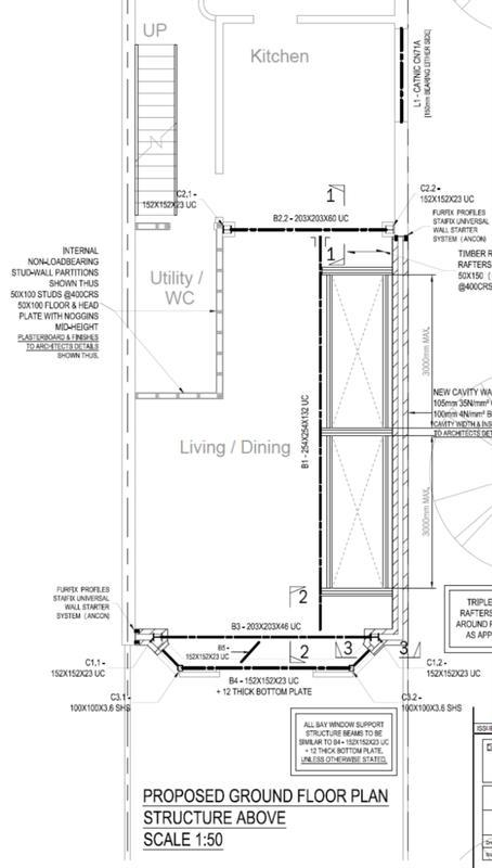 Image 11 - Rear and side extension. Ground floor plan. East London.