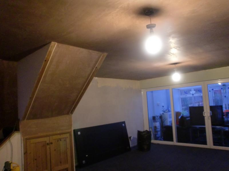 Image 18 - Extensive lounge ceiling now plastered