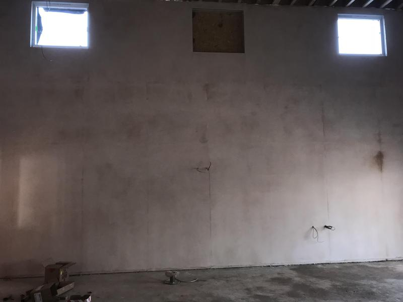 Image 58 - Classroom walls boarded and skimmed
