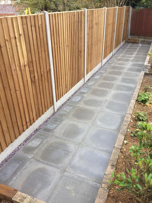 Image 7 - Full rear garden landscape Coventry new Fence and paving slabs phase 1