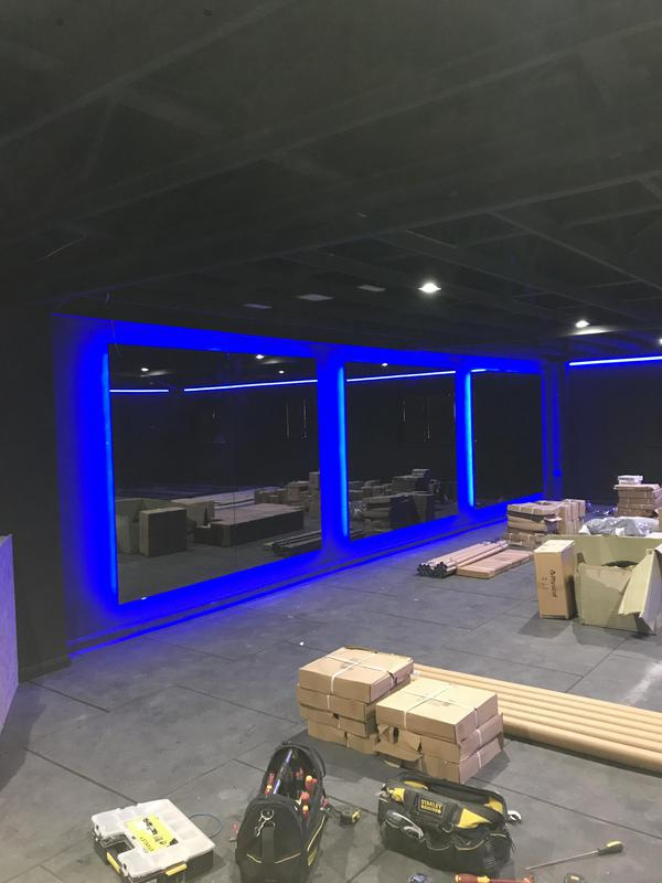Image 3 - LED lighting at a new gym we completed .
