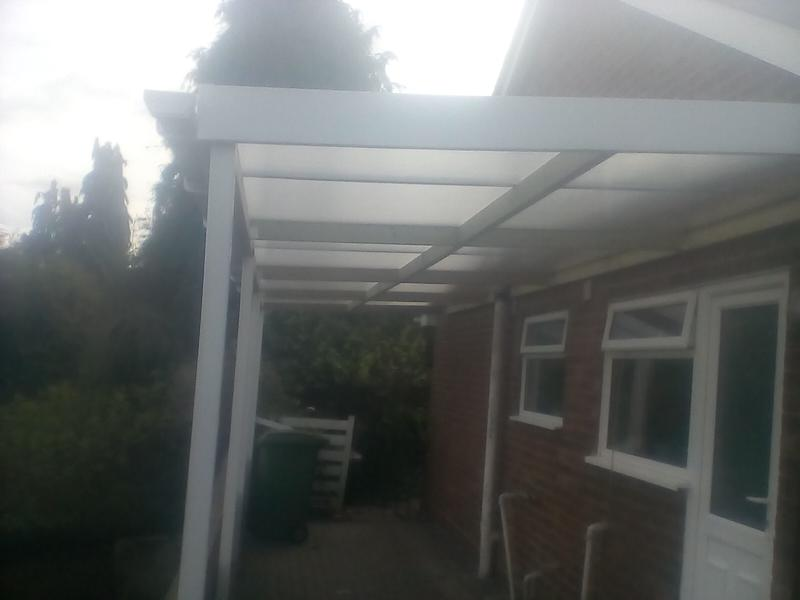 Image 146 - Regarding Car ports that we fit, there is a choice in colour being, Opal, beige or white, polycarbonate roofs can be fit on any scale.