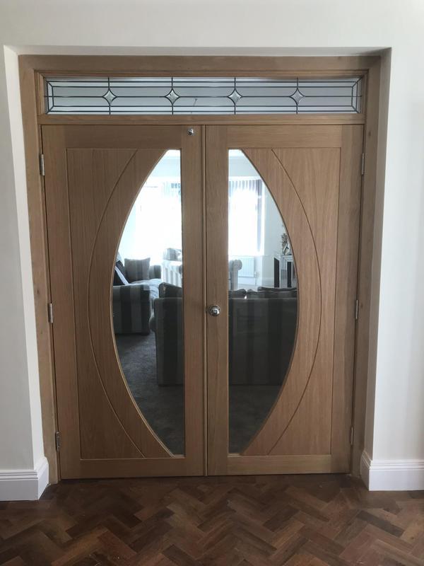 Image 51 - Oak doors and frame with glazed skylight