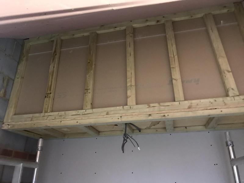 Image 21 - Wooden over head storage built