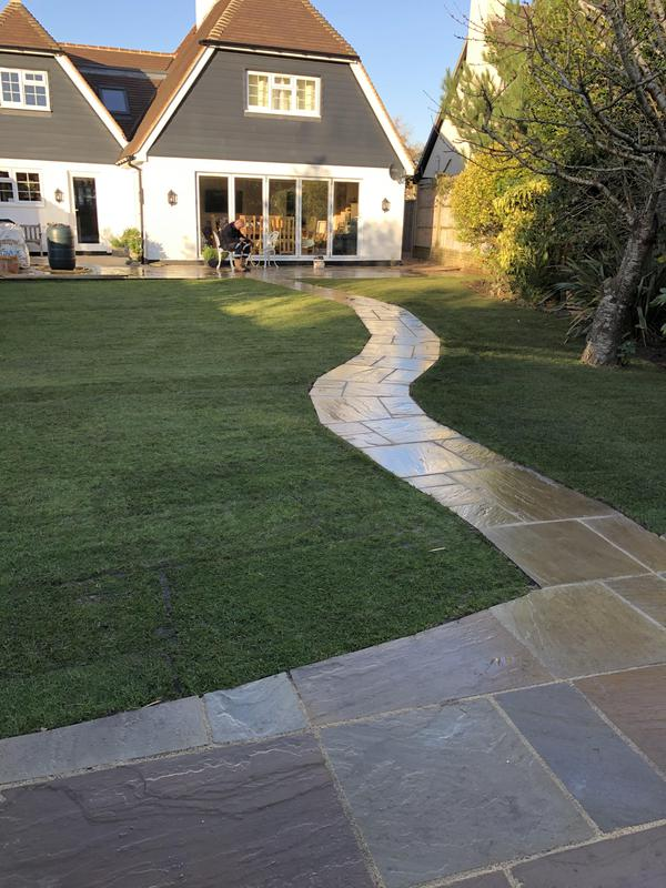 Image 46 - More of the patio and path in Indian sandstone