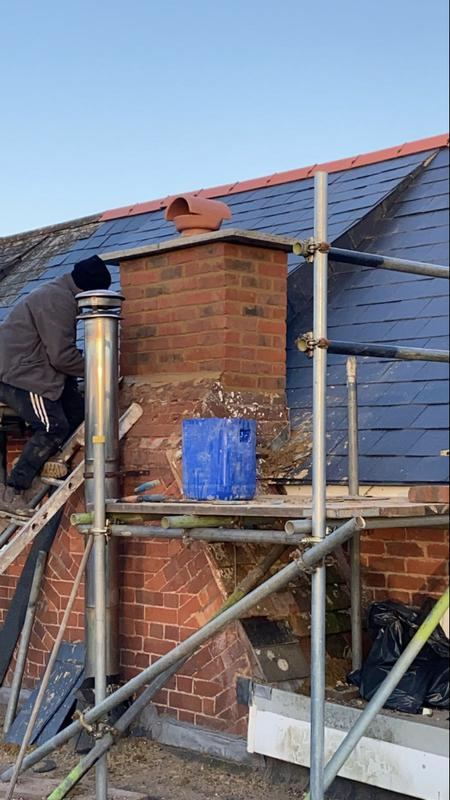 Image 12 - Chimney is up and safe!