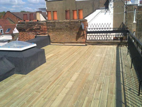 Image 11 - Roof Terrace finished with timber decking