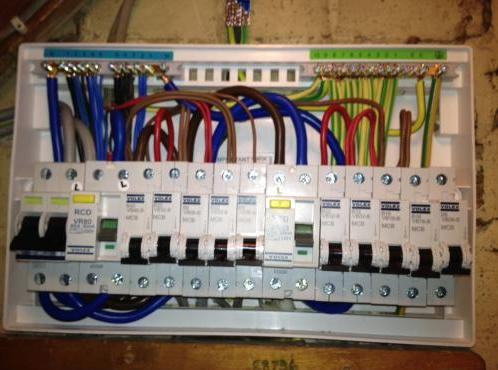 Image 5 - Work in progress, this is the stuff the customer never gets to see, the inside of a consumer unit, note how neat and tidy the cabling is.