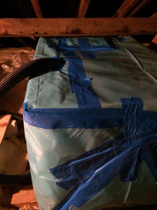 Image 9 - Asbestos Water Tank Removal - DURING