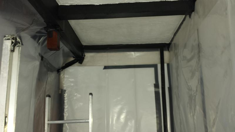 Image 23 - Asbestos Textured Coating (Artex) Removal - DURING