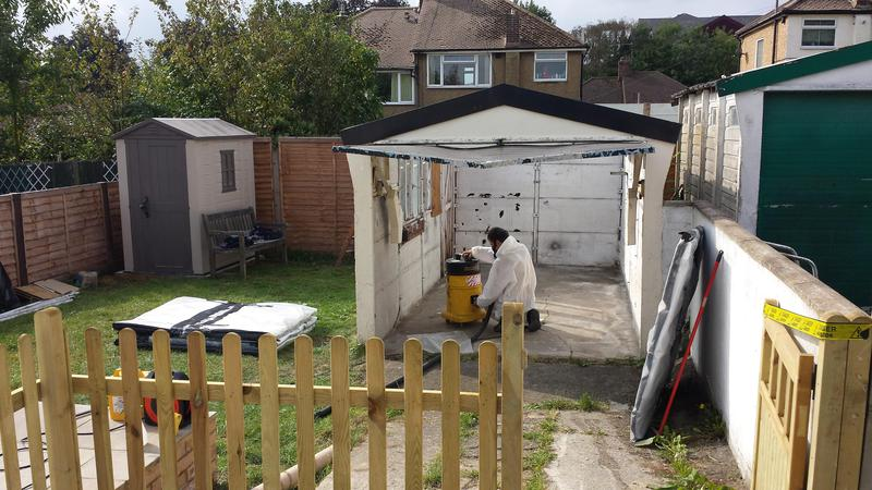 Image 42 - Asbestos Garage Roof Removal - DURING