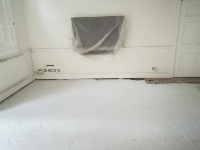 Image 12 - Epoxy floor coating was then applied.