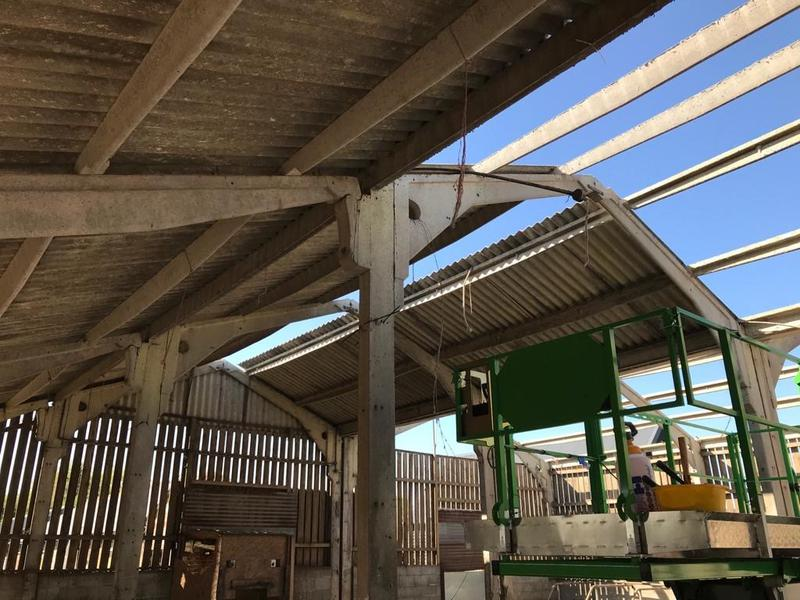 Image 18 - Work on this farm building included; removing asbestos roof sheeting, barge boards, gutters & down pipes (part 2)