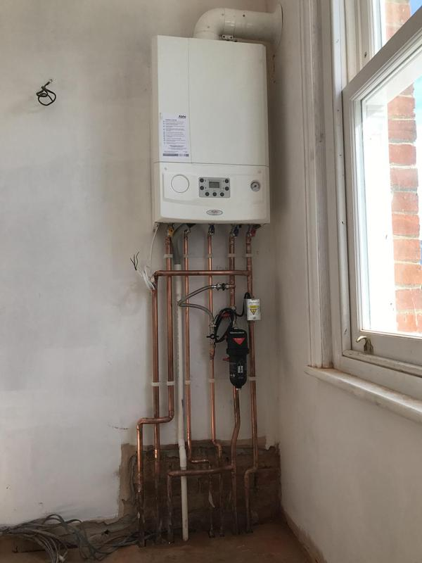 Image 14 - Combi boiler installation