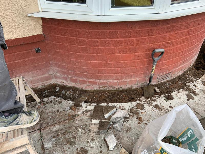 Image 1 - Installing damp proof course - before