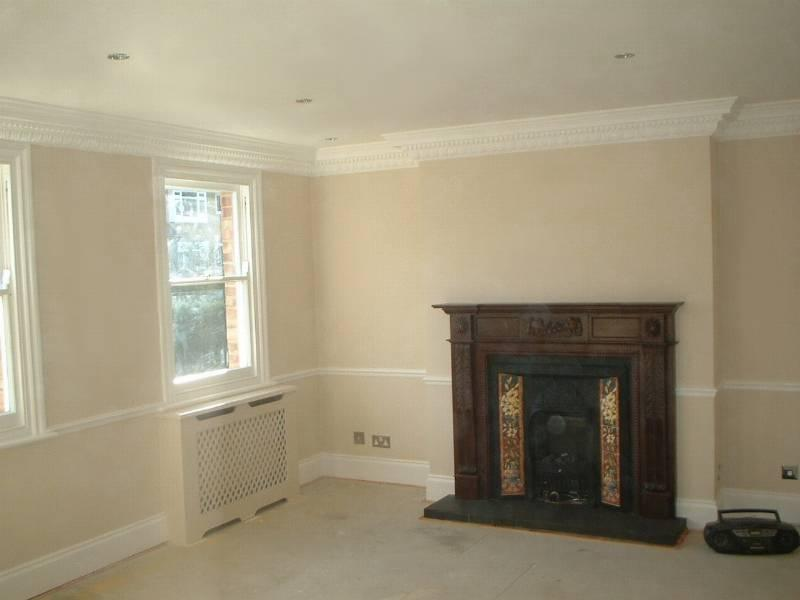 Image 84 - New coving, fireplace, radiator covers and complete redecoration
