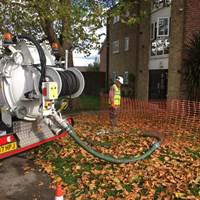 Image 16 - Clearing out the drains with our nice new tanker