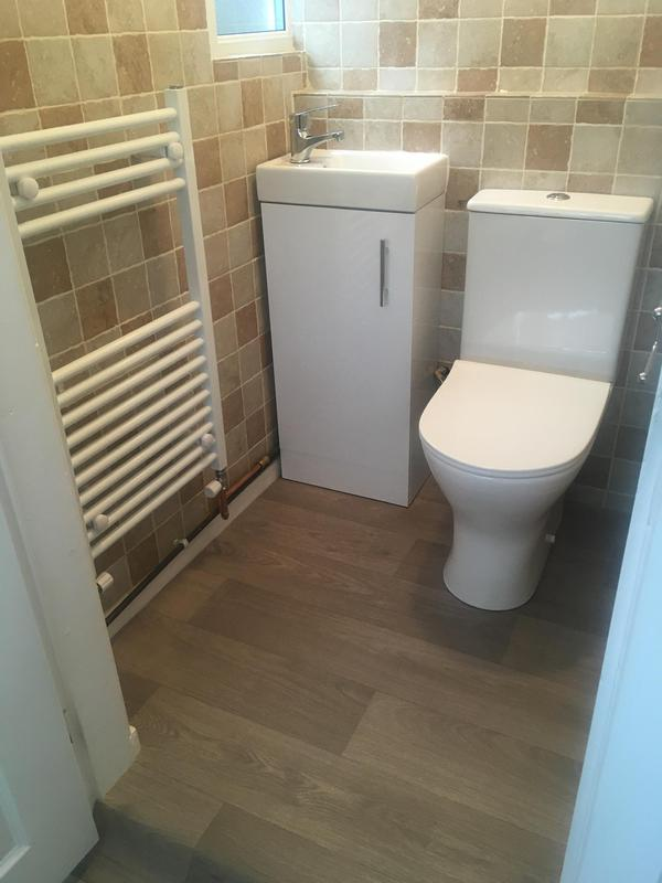 Image 26 - A new cloakroom and fitted. Toilet, basin, towel radiator